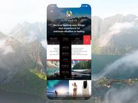 Adventure Blog Mobile Edition android mobile minimal travel ui ux ios design webdesign