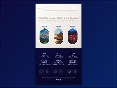 Travel App Prototype prototype travel android ios