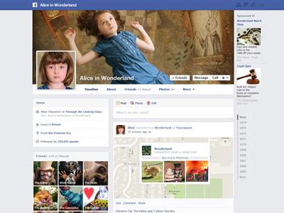Alice in Social Media facebook literature