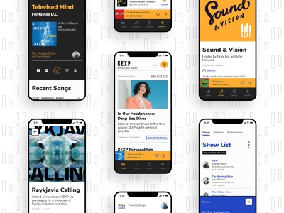 KEXP Mobile App ux  ui ux app music radio