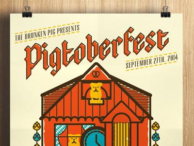 Pigtoberfest 2014 poster oktoberfest screenprint