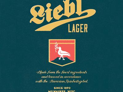 Tap Handle - Lager beer vintage homebrew