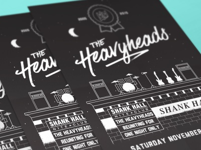 Heavyheads Reunion Poster gigposter poster concert