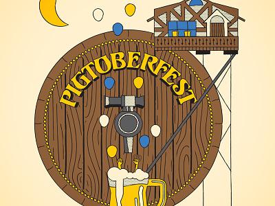 Pigtoberfest 2015 poster beer oktoberfest