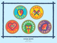 Good Work Quarterly Badges
