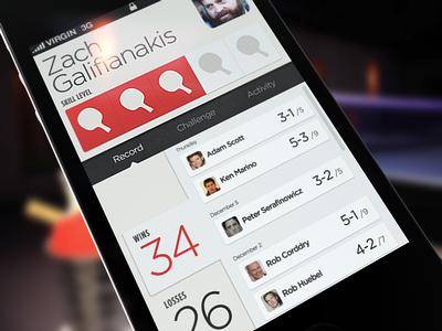 Social Ping Pong App ui app iphone ping pong social
