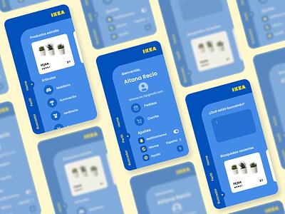 IKEA mobile app shopping shop furniture ikea vector branding logo ui app illustration figma design