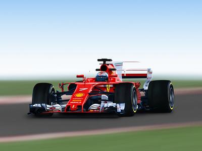 Ferrari F1 2017 - Kimi Raikkonen red iceman kimi