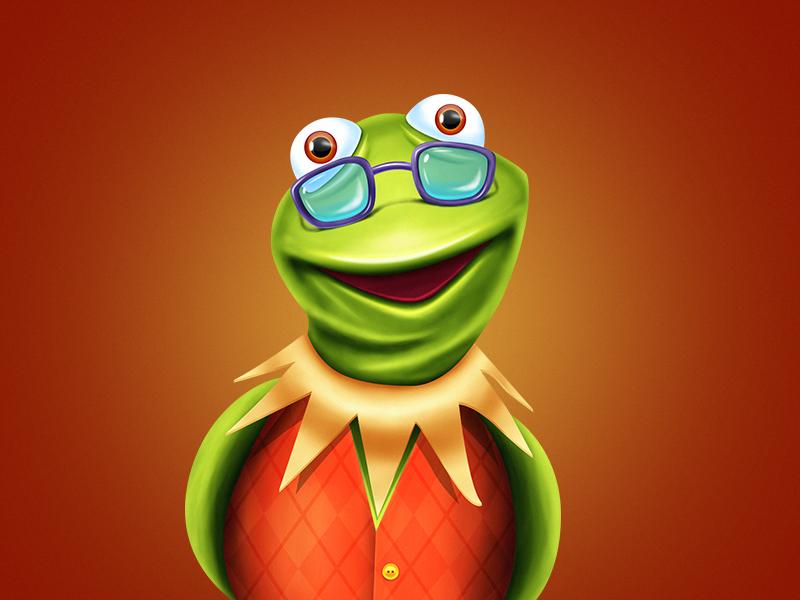 Kind of Kermit green frog kermit