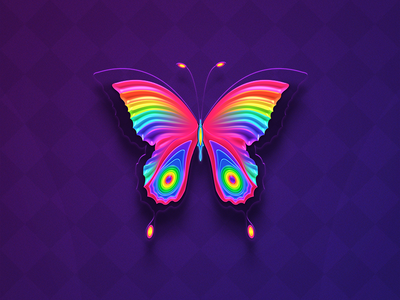 Butterfly purple pink magenta rainbow colors butterfly