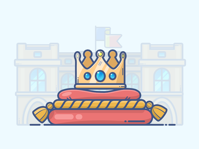 King Crown kingdom romania pillow crown king