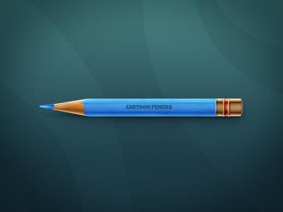 Pencil cartoon color pencil blue