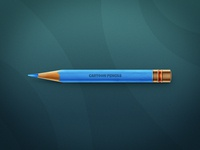 Pencil cartoon color pencil blue