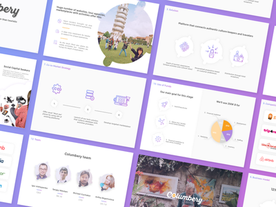 Pitch deck presi numbers data visualisation infographics startup keynote pitchdesk presentation