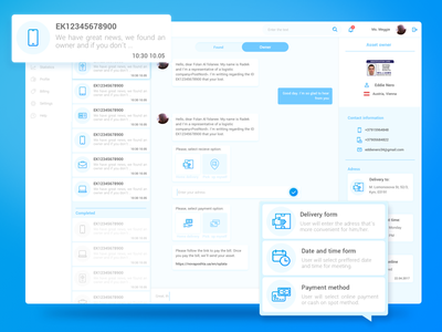 Messaging for CRM found lost chatting drop panel dashboard cms crm messaging