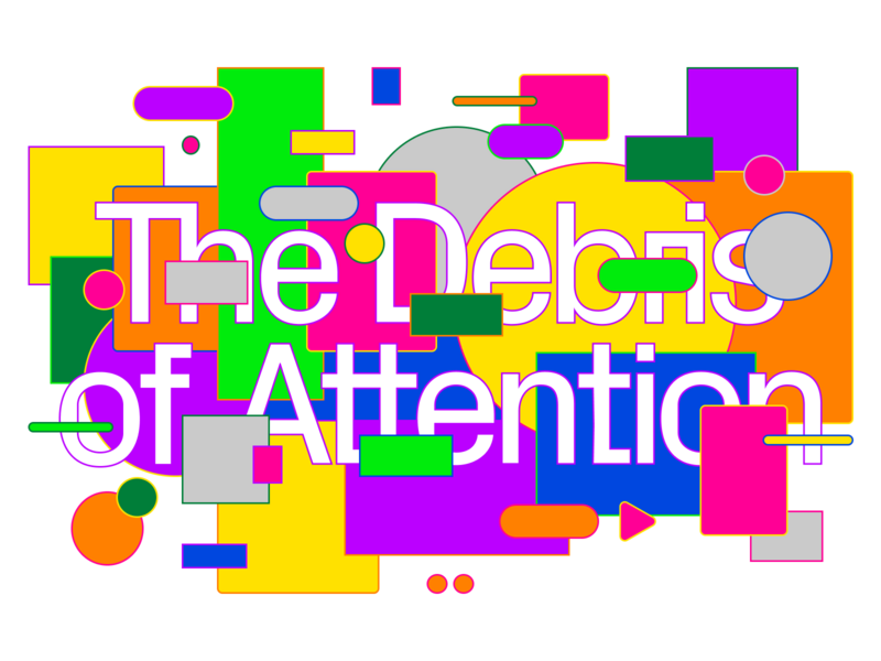 The Debris of Attention editorial animation web readymag