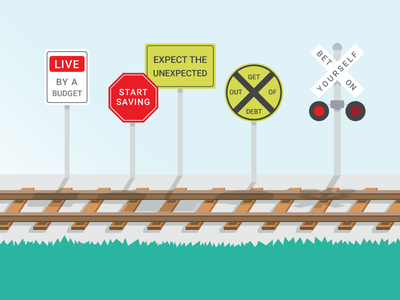 Infographic Train Signs tracks signs train infographic bank