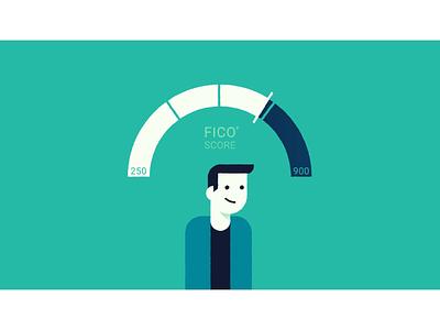 FICO Score animation motion graphic bad credit good credit credit credit score score fico bank