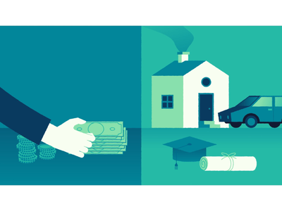 Paying Back Debts debts cash loans credit credit score bank animation motion motion graphic