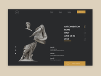 First page for exhibition website  Daily UI challenge