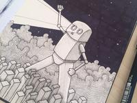 Robot - sketchbook drawing