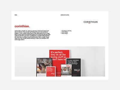 Simple PDF Portfolio Layout modernist grid layout helvetica self promotion identity logo branding portfolio minimal graphic design typography