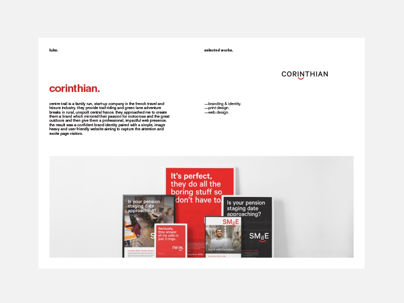 Simple PDF Portfolio Layout by luke  on Dribbble