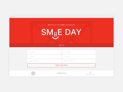 RSVP Holding Page website ux ui typography minimal icon form event design graphic design calibre branding