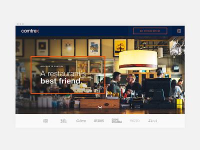 Comtrex Landing Page Design website ux ui typography minimal identity graphic design homepage design clean branding
