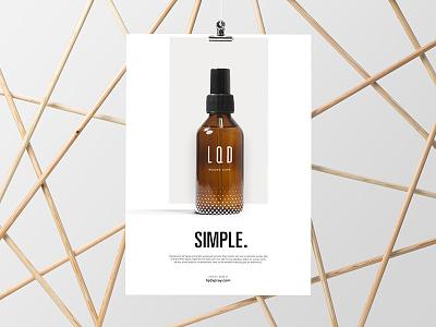L · Q · D — Advertising Concept 01 typography print poster modernist minimal logo identity graphic design design campaign univers branding