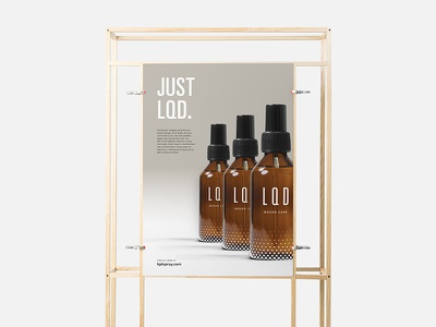 L · Q · D — Advertising Concept 02 univers typography print poster modernist minimal logo identity graphic design design campaign branding
