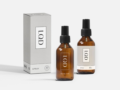 L · Q · D — Packaging Concept 02 bodoni sans typography pattern packaging minimal medical luxury logo identity graphic design cosmetics branding