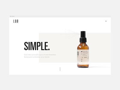L · Q · D — Landing Page website ux ui typography minimal identity homepage graphic design design clean branding