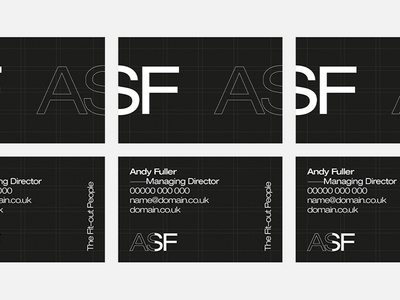 Initial Identity & Business Card Design typography print grid modernist minimal logo identity graphic design design helvetica business cards branding