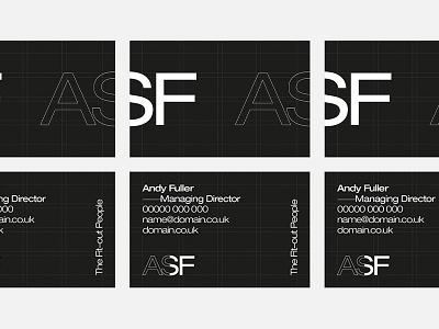 Initial Identity & Business Card Design typography print grid modernist minimal logo identity graphic design design helvetica business cards branding