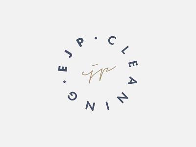 EJP Cleaning marque futura icon clean typography minimal signature graphic design stamp identity logo branding