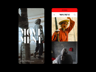 THE MOVEMENT movements tv kakhi theater responsive mobile typography ux storytelling social places people news website movement motion design culture cinematography person story
