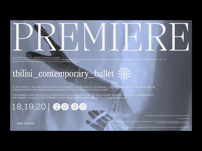 TBILISI CONTEMPORARY BALLET performance tbilisi orchestra choreography staged artists typography concept web motion print promotion giorgi aleksidze giorgi aleksidze mariam aleksidze mariam aleksidze beatrice anniversary aleksidze dante alighieri contemporary ballet