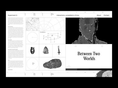 BETWEEN TWO WORLDS experiments culture artist people art contemporary black  white black constellation object illustration typography print web visionary vision experimental live experiment