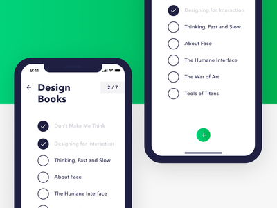 Weekly UI #1 — ToDo List to-do list to-do books to do list task list dailyui 042 dailyui iphone x ios app
