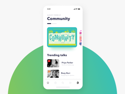 Weekly UI #2 — Event List. Concept for Creative Mornings