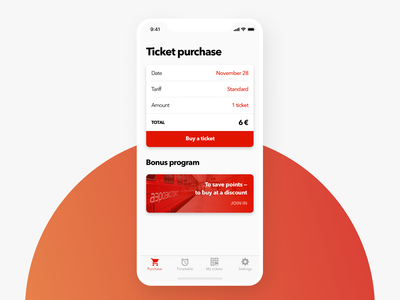 Weekly UI #5 — E-Commerce. Concept for Tickets purchase weeklyui iphone x ticket app tickets train app ux ui ios travel app travel