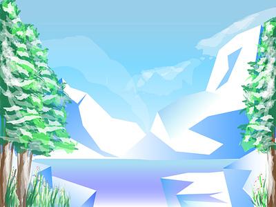 iceage web vector illustration
