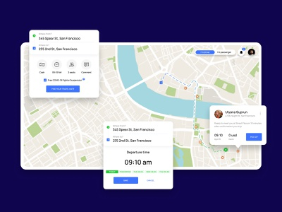 RideNow – web interface taxi road uber drivers drive auto map interface web ui