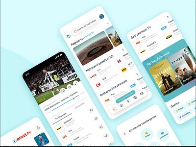 sweet.tv Application Concept ukraine media tv app concept application app design app