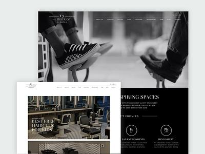 The District barber Luxury website design groom market groom market