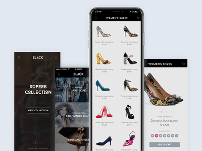 Black Website Design For Luxurious Brand's Sale brand products luxury women products luxury men products luxury items