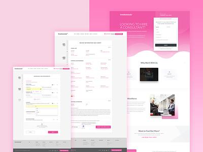 Freshminds Landing Page Design freelance consultant freelance consultant