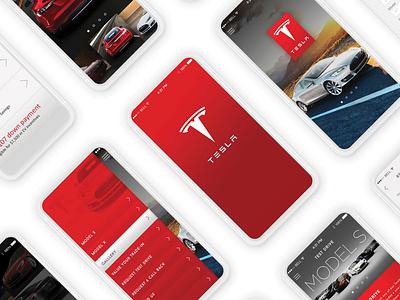 Tesla Mobile App UI/UX Design solar roof tiles solar panels energy battery cars motor vehicle. electric vehicle