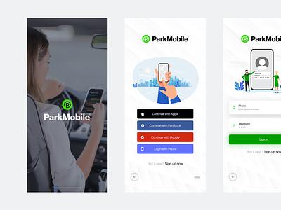 Parking Mobile App Design   Freelance UI/UX Design smart mobility. smart mobility.
